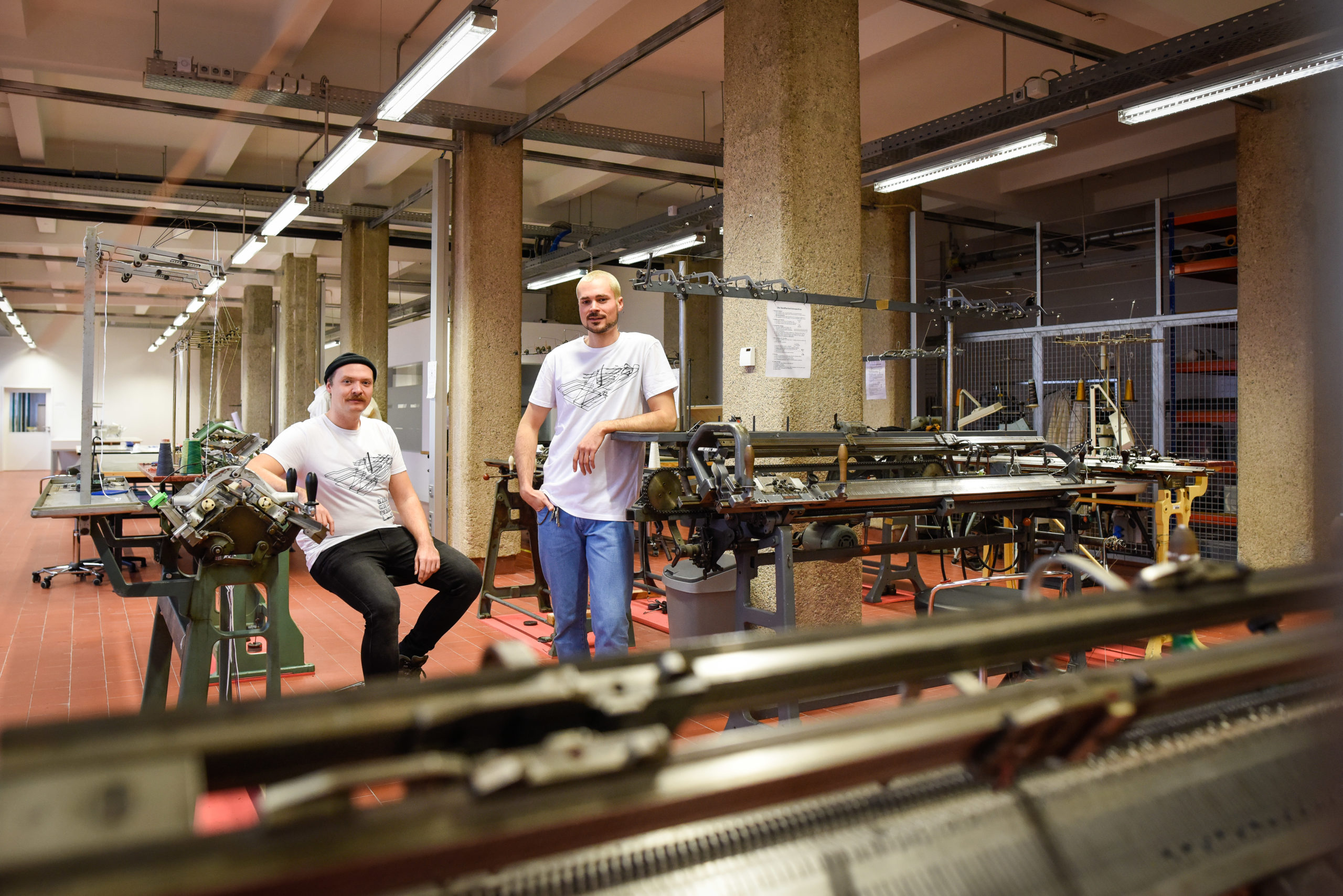 Viktor Weichselbaumer und Michael Wieser von YOKAI STUDIOS in der Tabakfabrik Linz. Foto: Volker Weihbold